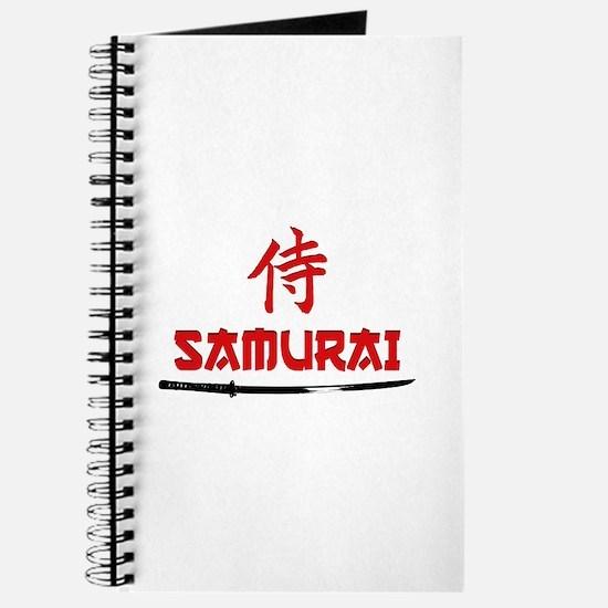Samurai Kanji and text Journal