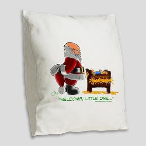 Welcome Burlap Throw Pillow