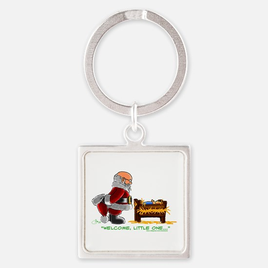 Welcome Square Keychain