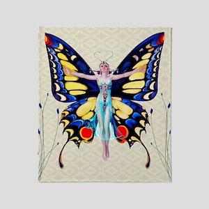 Art Deco Sensual B'fly Flapper Throw Blanket
