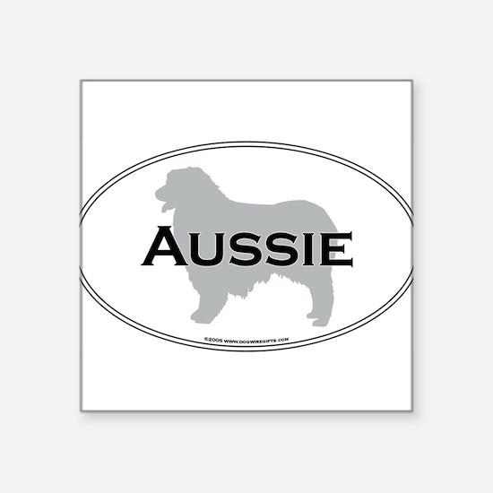 """Cute Aussie Square Sticker 3"""" x 3"""""""