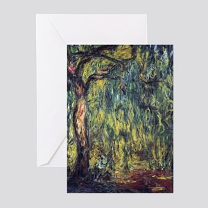 Willow tree greeting cards cafepress weeping willow by claude monet greeting cards m4hsunfo