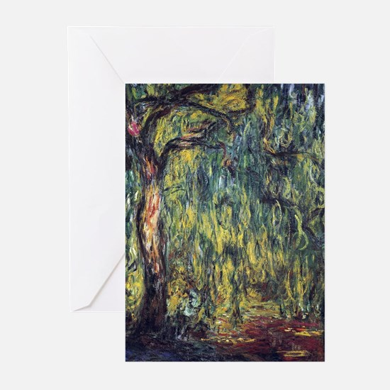 Weeping Willow by Claude Monet Greeting Cards