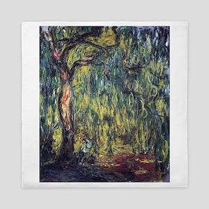 Weeping Willow by Claude Monet Queen Duvet