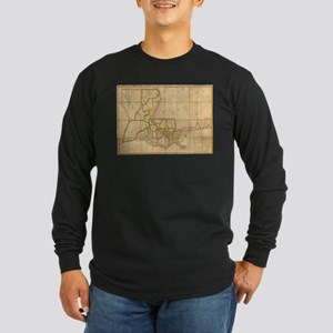 Vintage Map of Louisiana (1816 Long Sleeve T-Shirt