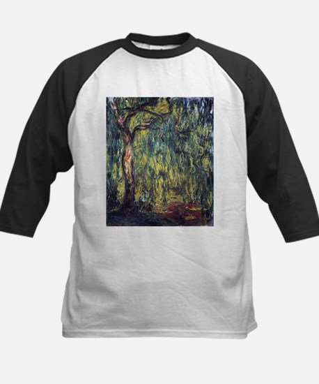 Weeping Willow by Claude Monet Baseball Jersey