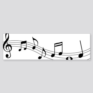 Music Notes Sticker (Bumper)