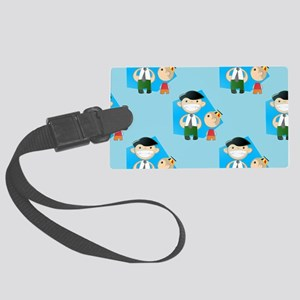 fathers day Large Luggage Tag