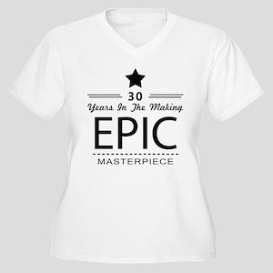 30th Birthday 30 Women's Plus Size V-Neck T-Shirt