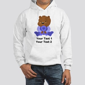 Personalized Periwinkle Awareness Bear Hoodie