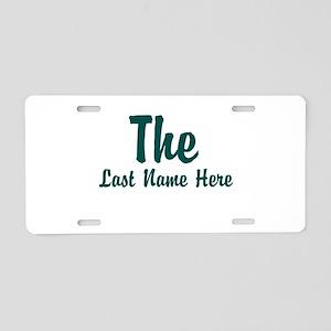 The (Use A Last Name) Aluminum License Plate