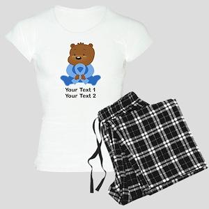 Light Blue Awareness Bear Women's Light Pajamas