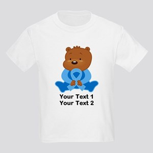 Light Blue Awareness Bear Kids Light T-Shirt