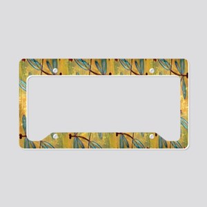 Dragonfly Golden Haze License Plate Holder