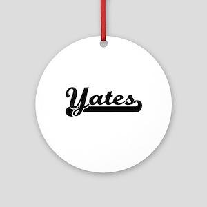 Yates surname classic retro desig Ornament (Round)
