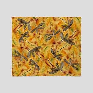 Dragonfly Flit Warm Breeze Throw Blanket
