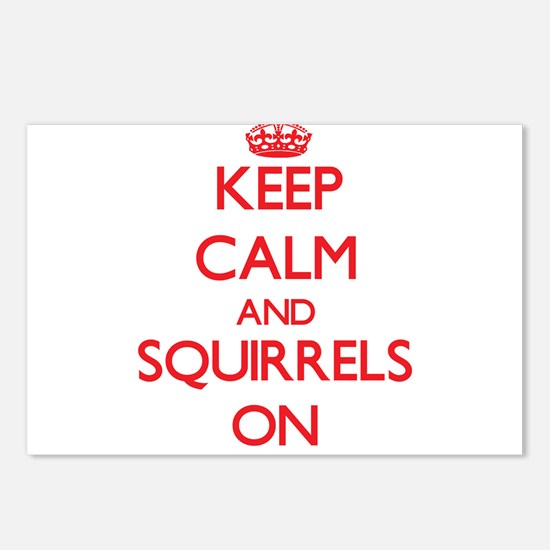 Keep calm and Squirrels O Postcards (Package of 8)