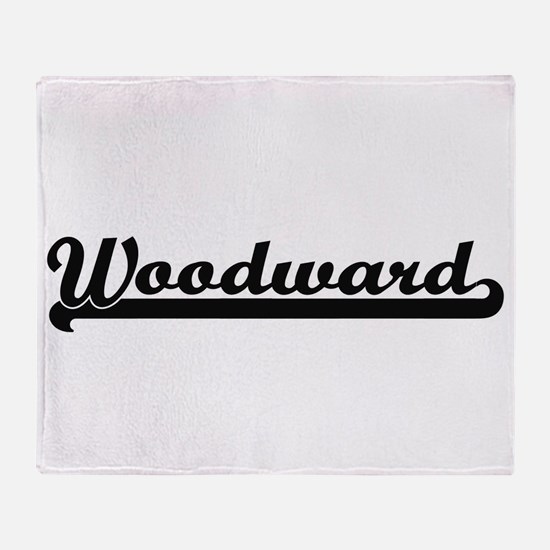 Woodward surname classic retro desig Throw Blanket