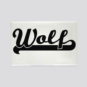 Wolf surname classic retro design Magnets