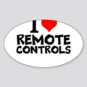I Love Remote Controls Sticker