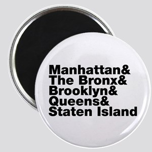 Five Boroughs New York City Magnets