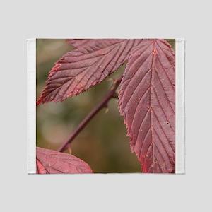 Red Leaves Throw Blanket