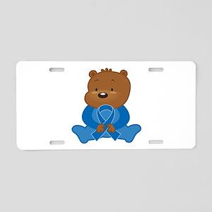 Blue Awareness Bear Aluminum License Plate