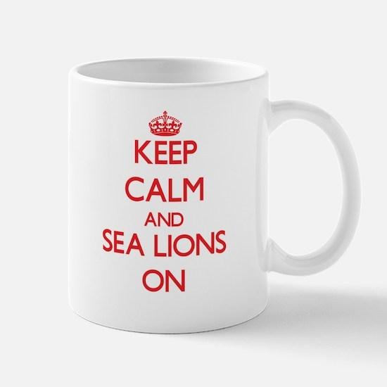 Keep calm and Sea Lions On Mugs