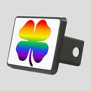 Rainbow Four Leaf Clover Hitch Cover