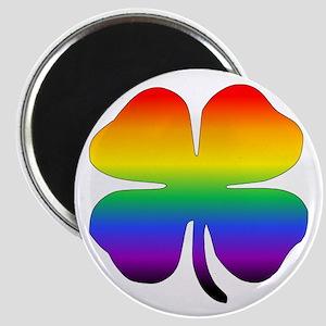 Rainbow Four Leaf Clover Magnets