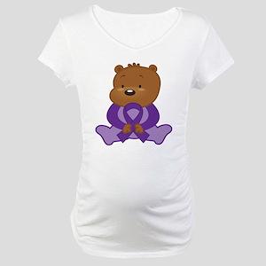 Purple Awareness Bear Maternity T-Shirt