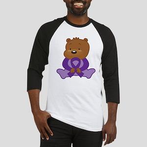 Purple Awareness Bear Baseball Jersey