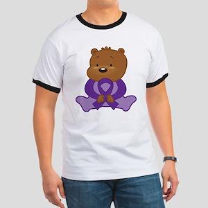 Purple Awareness Bear Ringer T