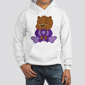 Purple Awareness Bear Hooded Sweatshirt