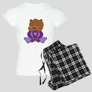 Purple Awareness Bear Women's Light Pajamas