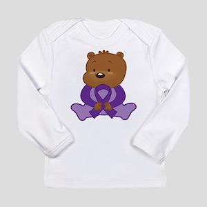 Purple Awareness Bear Long Sleeve Infant T-Shirt