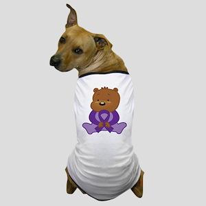 Purple Awareness Bear Dog T-Shirt