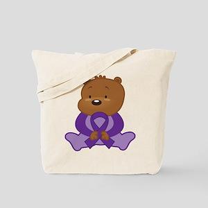 Purple Awareness Bear Tote Bag