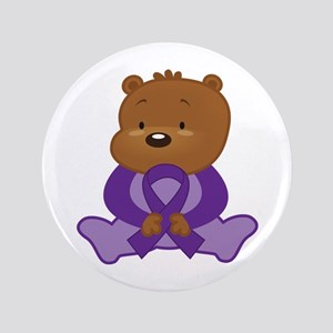 Purple Awareness Bear Button