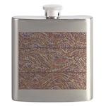 Pointillism Wood Picnic King Flask