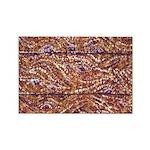 Pointillism Wood Picnic King Magnets