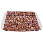 Pointillism Wood Picnic King Bathmat