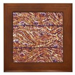 Pointillism Wood Picnic King Framed Tile