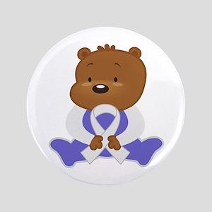 Pearl Awareness Bear Button