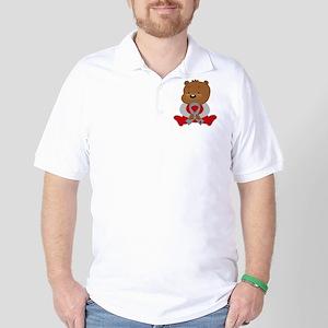 Gray Awareness Bear Golf Shirt