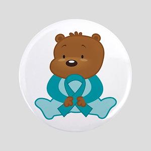 Teal Awareness Bear Button