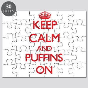 Keep calm and Puffins On Puzzle