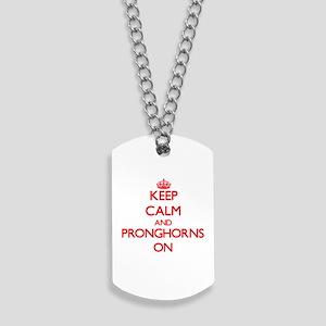 Keep calm and Pronghorns On Dog Tags