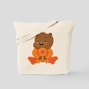 Orange Awareness Bear Tote Bag