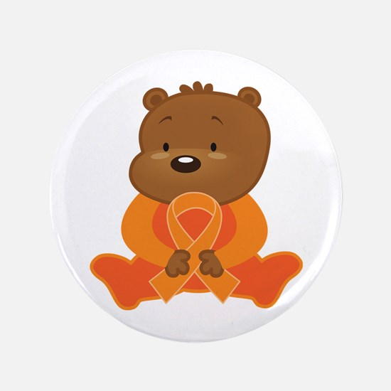 Orange Awareness Bear Button